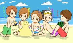 Arashi at the beach