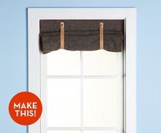 Make It: A Simple Wool Blanket Window Shade!