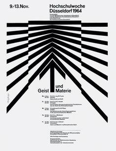 Hochschulwoche Düsseldorf 1964, poster design by Walter Breker