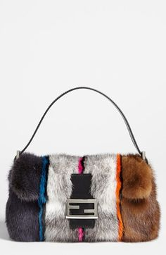 Fendi Genuine Mink Fur Baguette available at #Nordstrom....never gonna happen, but I can dream!