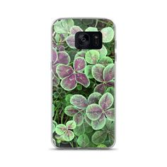 Excited to share the latest addition to my #etsy shop: Lucky Clover Photo Case for Samsung Galaxy Phone / Nature Photo Case for Galaxy 7S, 7S Edge, 8S, 8S + / PNW Garden Photo Phone Case #accessories #case #cellphone #green #stpatricksday #photophonecase #photocellcase