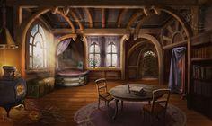 Witch Fantasy Cottage Interior