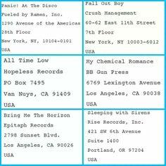 Some more  addresses.