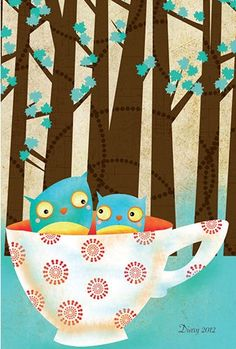 owls i teacup 2017 Planner, Owl Tree, Young At Heart, Teacup, Turtles, Owls, Insects, Herbs, Crafty