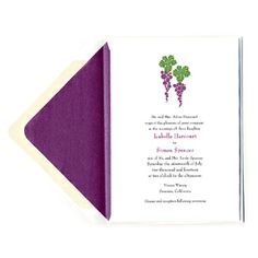 Grape Wedding Invitations. Perfect for a vineyard or rustic wedding - Wine Country Occasions, www.winecountryoccasions.com