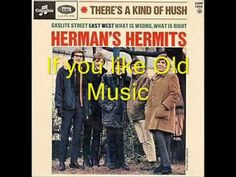 I was just a little girl when this was a hit but.... HERMAN'S HERMITS - There's A Kind Of Hush