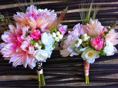 Gorgeous Bride and Bridesmaid bouquets by Flowers by the Vase ~ madeit.com.au