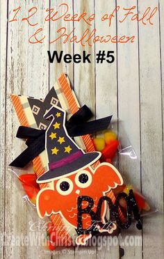 Stampin' Up! Howl-o-ween Treat Bag - Create With Christy: 12 Weeks of Fall & Halloween - Week #5 - Free illustrated, step-by-step tutorial included - Christy Fulk, Stampin' Up! Demo
