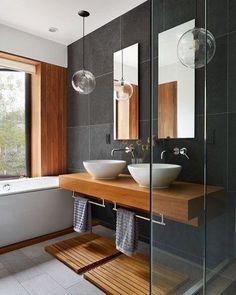"""796 curtidas, 3 comentários - Stylish Interior Designs (@thedailyinterior) no Instagram: """"Contemporary Bathroom Design 👍🏻 #thedailyinterior"""""""
