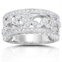 11 best wide diamond wedding bands images on Pinterest | Gemstones ...