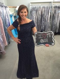 Rose is the Mother of the Groom! She looks beautiful in this Navy lace gown by Jade Couture! Her son will be getting married at Big Sky Barn in Montgomery. I found MY Dress! - Our Customers in their beautiful dresses! Mother of the Bride, Houston TX, T Carolyn, Formal Wear, Evening Dresses, Plus Sizes, Couture, Gala, Gowns