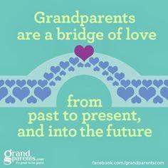 Grandparents are a bridge of love.