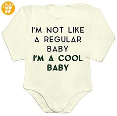 I'm Not Like A Regular Baby. I'm A Cool Baby Baby Romper Long Sleeve Bodysuit Extra Large - Baby bodys baby einteiler baby stampler (*Partner-Link)