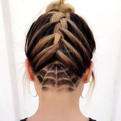 Top 100 undercut hairstyle photos Good night pretty ladies #undercuthairstyle #halloween #halloween2016 #spiderweb