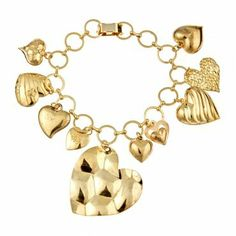 Hearts Around Your Wrist bracelet in 14k yellow gold plate by Emily Elizabeth Jewelry. Only 2 available!