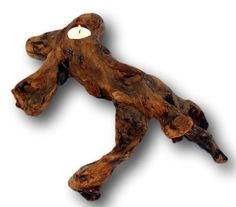 Rustic Home Decor Driftwood Candle Holder Root by WoodzYShop, $25.00