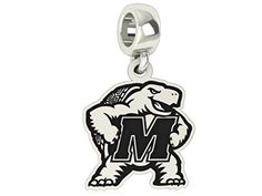 Maryland Terrapins Logo Drop Charm Fits All Pandora Style Bracelets. High Quality Sterling Silver Collegiate Beads and Charms That Fit Pandora Style Bracelets University Style, Pandora Bracelet Charms, Fashion Bracelets, Maryland, Bling, Charmed, Sterling Silver, Pendant, College Life