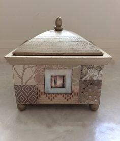 Wooden Box, Decorative Wooden Box, Decoupaged Wooden Box, Gold Box, Gold Wooden Box by TheUpcycledArtShop on Etsy