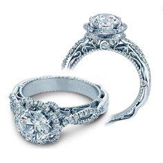 Infinity Halo Verragio Designer Natural Diamond Engagement Ring
