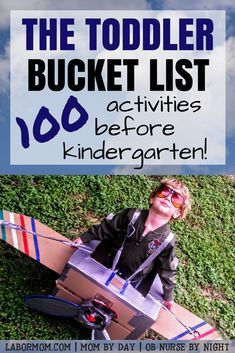 School days will be here before you know it! Make the most of this fleeting time with your preschooler with the 100 fun activities on this toddler bucket list. Free printable! #parentingtips #bucketlist #preschool via @https://www.pinterest.com/labormom