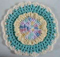 Best Free Crochet » #353 Spring Song Dishcloth – Maggie Weldon Maggies Crochet