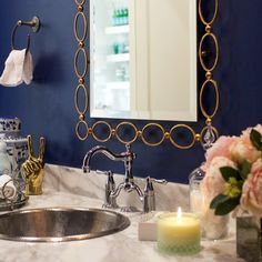 Bathroom decor from the Pink Peonies blog