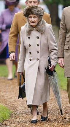 Mrs Rhodes, pictured in 2014, was the youngest daughter of the 16th Lord Elphinstone and h...