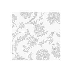 Graham & Brown Fibrous Sandringham Silver & White Floral Metallic Wallpaper | Departments | DIY at B&Q