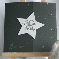 Faire-part naissance rond - Constellation proposé par www.faire-part-soi-meme.co