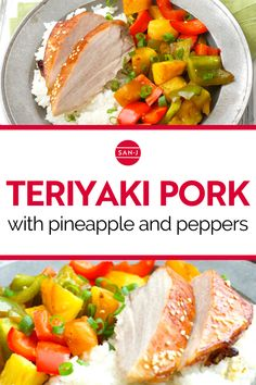 A quick and easy recipe doesn't have to be boring! This Teriyaki Pork with Pineapple and Peppers is a great meal to prepare when you are short on time. Enjoy the sweetness of pineapple along with savory pork, flavored with teriyaki. #Recipe #TeriyakiSauce #PorkRecipe #PineappleRecipe #SweetAndSavory #AsianRecipes Pork Recipes, Asian Recipes, Ethnic Recipes, Pineapple Recipes, Teriyaki Sauce, Pork Loin, Casserole Dishes, Quick Easy Meals, Cooking Time