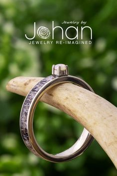 An opal is the center of attention on this deer antler solitaire engagement ring. #JewelrybyJohan Deer Antler Ring, Deer Antlers, White Gold Wedding Bands, White Gold Rings, Ring Displays, Alternative Engagement Rings, Solitaire Engagement, Laser Engraving, Are You The One