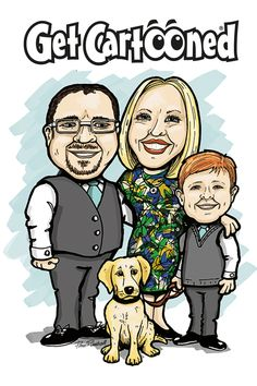 Get you and your family cartooned. Great gift for any occasion. East Street, Creative Design, Great Gifts, Branding, Cartoon, Comics, Brand Management, Cartoons, Identity Branding