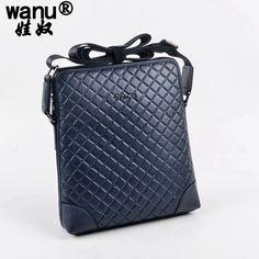 38.61$  Buy here - http://alieqd.shopchina.info/go.php?t=32809126996 - WANU men 100% genuine leather bags messenger bag man crossbody shoulder bags fashion gift for son husband high quality handbags  #magazine