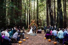 You will FALL for this autumn wedding with a Nordic ceremony, ax-throwing, and…