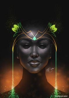 Ashley Straker - A digital artist and Illustrator based in London Black Love Art, Black Girl Art, African American Art, African Art, Arte Tribal, Black Art Pictures, Black Artwork, Wow Art, Afro Art