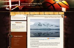 Blogger Templates - Basketball Blogger Theme #blogger #basketball #bloggertemplates