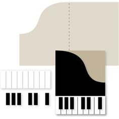 Silhouette Design Store - View Design #24811: piano card