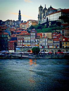 | ♕ | Porto at dusk - Portugal | by © campra | via ysvoice