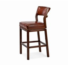 Hancock and Moore 153-30 Steele Farm Swivel Barstool available at Hickory Park Furniture Galleries