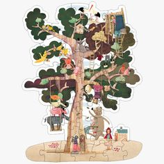 Londji Kinder Puzzle My tree Kids Jigsaw, Sack Race, Pillos, 54 Kg, Hopscotch, Wooden Puzzles, Puzzles For Kids, Baby Play, The Pretenders