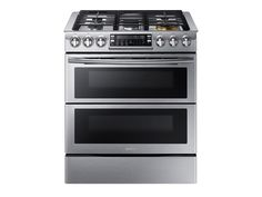Samsung Flex Duo ft / ft Self-cleaning Double Oven Convection Gas Range (Stainless Steel) (Common: Actual: Cooking Supplies, Fun Cooking, Best Double Oven, Double Oven Range, Double Ovens, John Lewis, Slide In Range, Small Oven, Gas Oven