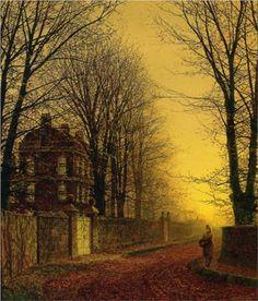 Autumn Gold by John Atkinson Grimshaw