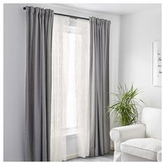 IKEA AINA Curtains | Visual | Pinterest | Living rooms, White ...