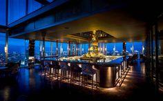 The glamorous Aqua Shard bar, located on the 31st floor of London's Shard