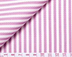 FABRIC CODE: 144  Thomas Mason Silverline - Elegant Deep Pink and White Stripe  RANGE:BLACK LABEL