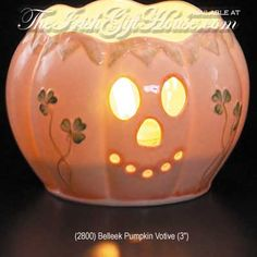 Image detail for -Irish Belleek China Pumpkin Votive