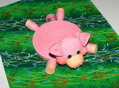 100% handmade  - Size: width 10 cm(3,94), height 6 cm(2,36), length of 14 cm(5,51) - For work were used paper strips width of 7, 3 and 1.5 mm - Piggy is very cute, funny and beautiful. The work was done carefully. - Piggy - stand for a cup perfectly decorate your table, to protect against unwanted blemishes. Make the drinking-time enjoyable. This stand for a cup will please the child and make a drink entertaining. - Stand for a cup not wash! It can only be wiped with a damp cloth.  - Thank…
