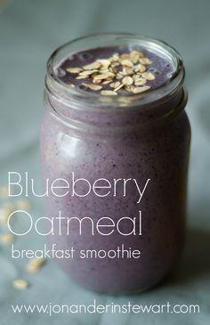 Jon & Erin Stewart: Blueberry Oatmeal Breakfast Smoothie Recipe