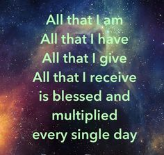 Blessed and multiplied