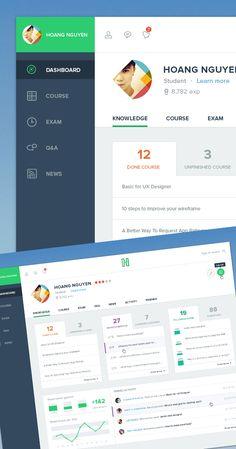 Free Dashboard UI Design #freepsdfiles #freepsdmockups #UIdesign #freebies